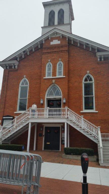 The Dexter Ave. Baptist Church, pulpit of Rev. Dr. Martin Luther King Jr. Photo Credit: Rabbi Benjy Owen